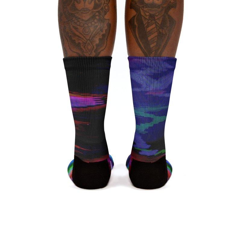 VHS Glitch 003: Phosphor Curves Women's Socks by Glitch Goods by Rob Sheridan