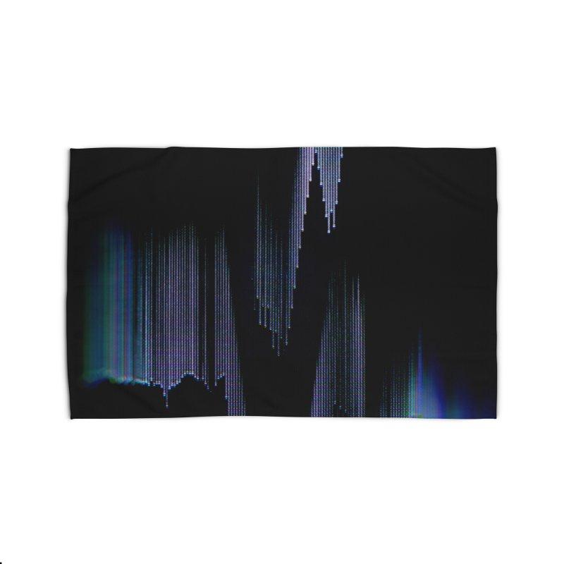 VHS Glitch 004: Synchron Pulse Home Rug by Glitch Goods by Rob Sheridan
