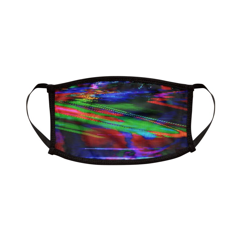 VHS Glitch 003: Green Phosphor Accessories Face Mask by Glitch Goods by Rob Sheridan