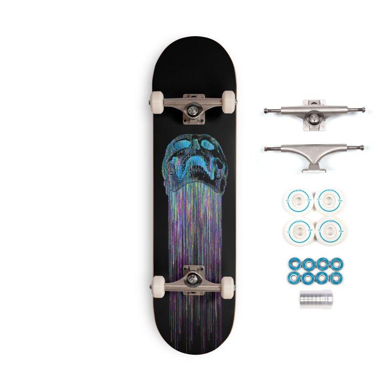 Rainbow Death (VaporWave) Accessories Skateboard by Glitch Goods by Rob Sheridan