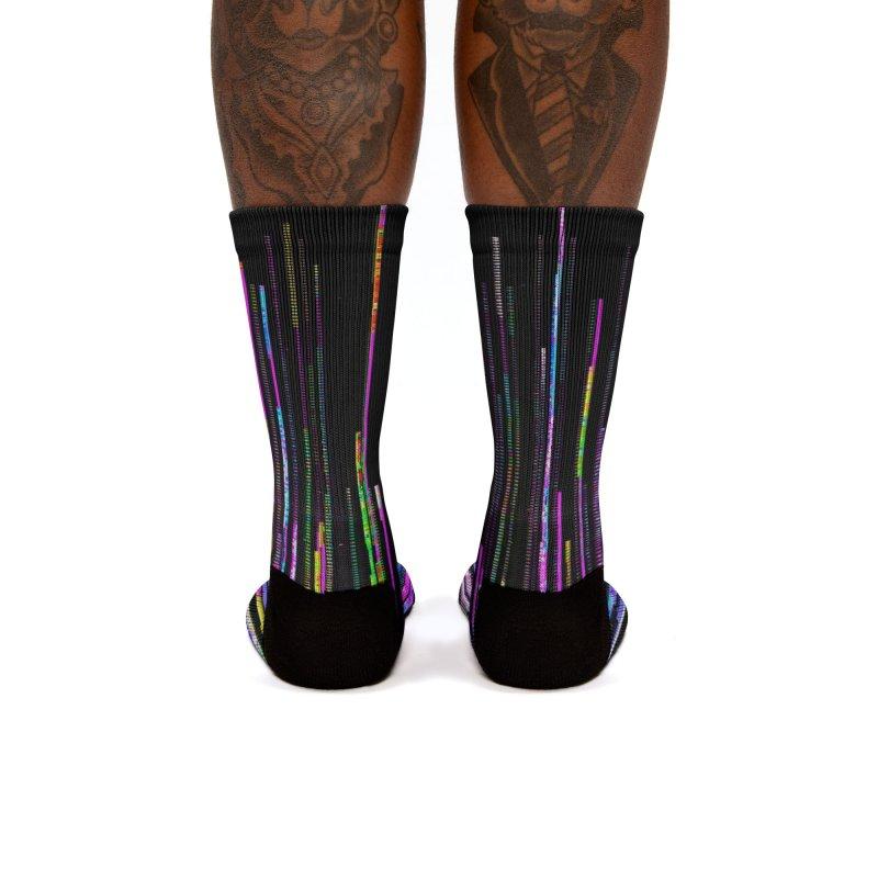 Rainbow Death (VaporWave) Women's Socks by Glitch Goods by Rob Sheridan