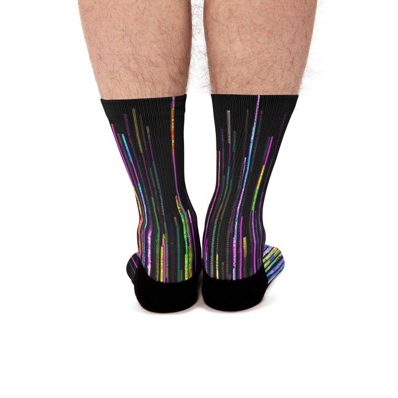 Rainbow Death (VaporWave) Men's Socks by Glitch Goods by Rob Sheridan