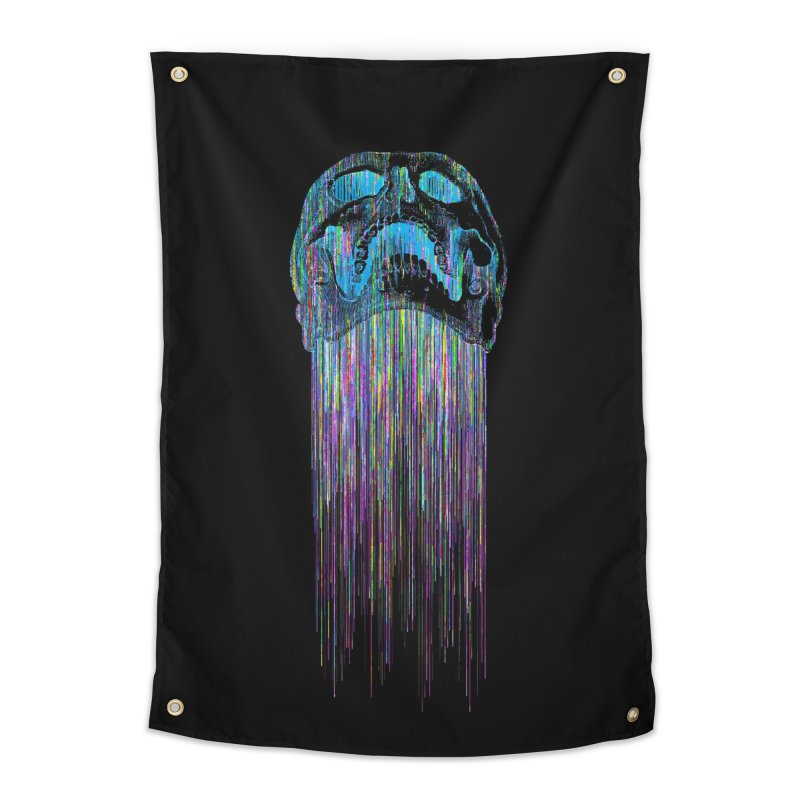 Rainbow Death (VaporWave) Home Tapestry by Glitch Goods by Rob Sheridan