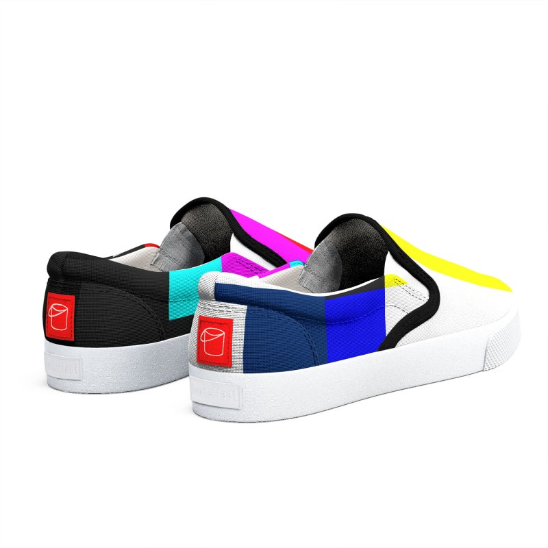 SMPTE TV Color Bars Test Pattern Women's Shoes by Glitch Goods by Rob Sheridan