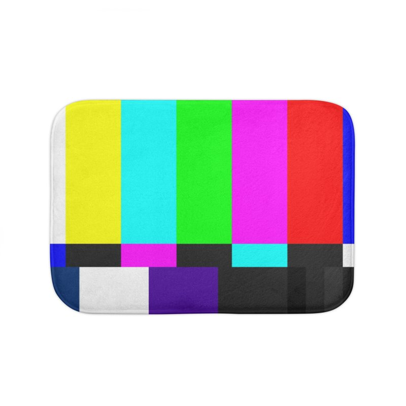 SMPTE TV Color Bars Test Pattern Home Bath Mat by Glitch Goods by Rob Sheridan