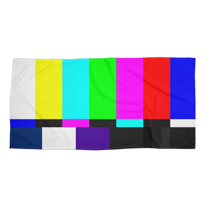 SMPTE TV Color Bars Test Pattern Accessories Beach Towel by Glitch Goods by Rob Sheridan