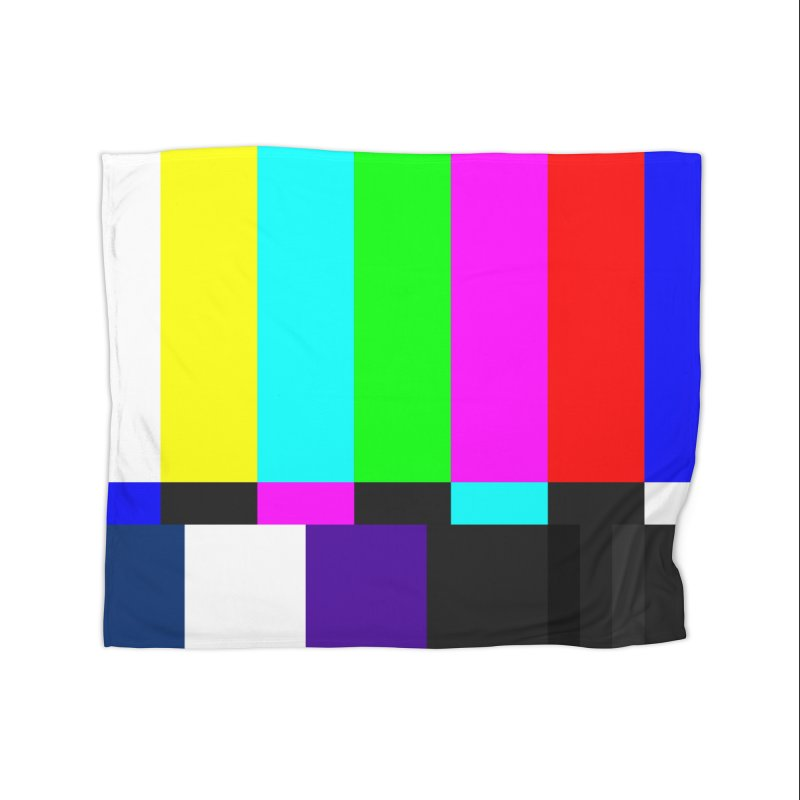 SMPTE TV Color Bars Test Pattern Home Blanket by Glitch Goods by Rob Sheridan
