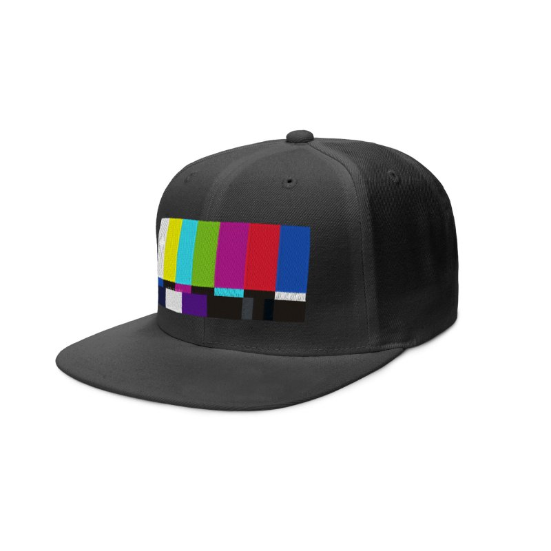 SMPTE TV Color Bars Test Pattern Accessories Hat by Glitch Goods by Rob Sheridan