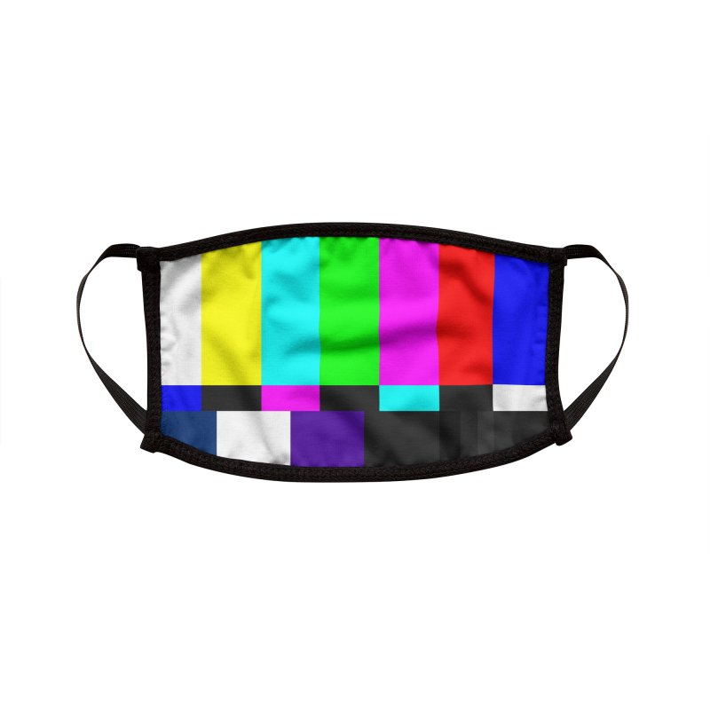 SMPTE TV Color Bars Test Pattern Accessories Face Mask by Glitch Goods by Rob Sheridan