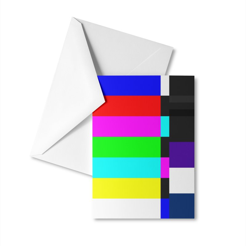 SMPTE TV Color Bars Test Pattern Accessories Greeting Card by Glitch Goods by Rob Sheridan