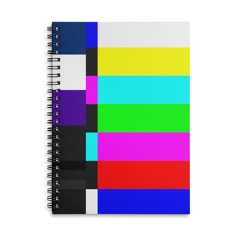 SMPTE TV Color Bars Test Pattern Accessories Notebook by Glitch Goods by Rob Sheridan