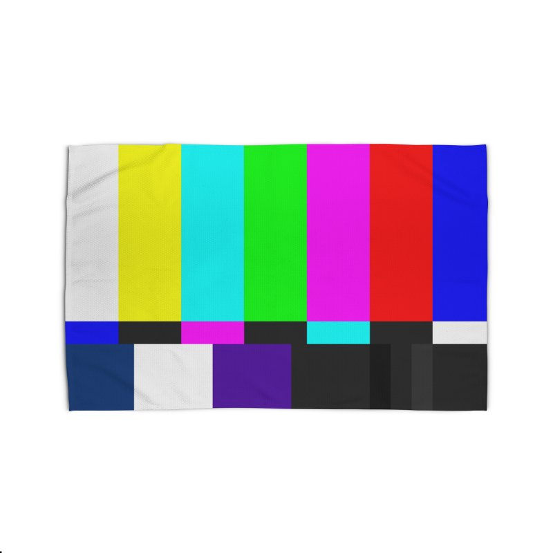 SMPTE TV Color Bars Test Pattern Home Rug by Glitch Goods by Rob Sheridan
