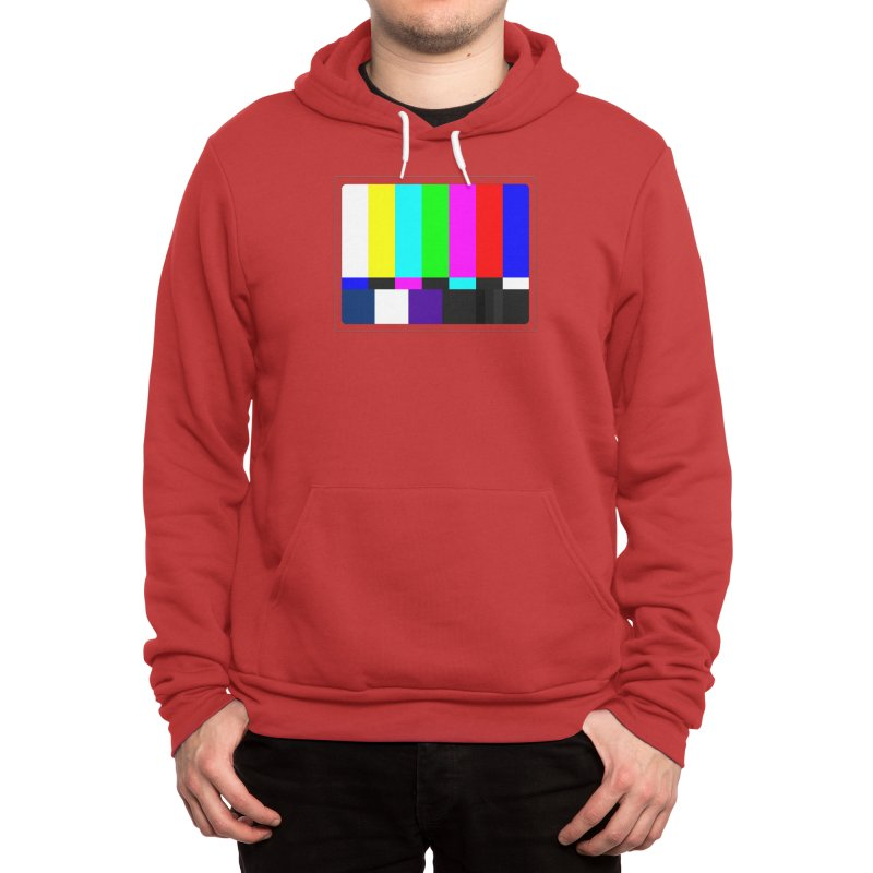 SMPTE TV Color Bars Test Pattern Men's Pullover Hoody by Glitch Goods by Rob Sheridan