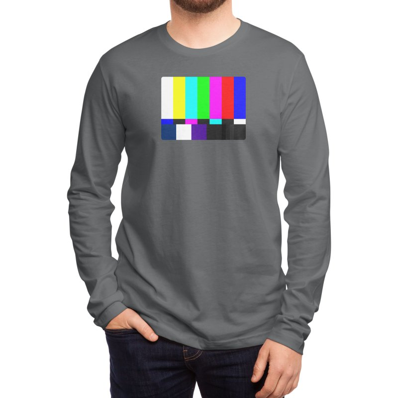 SMPTE TV Color Bars Test Pattern Men's Longsleeve T-Shirt by Glitch Goods by Rob Sheridan