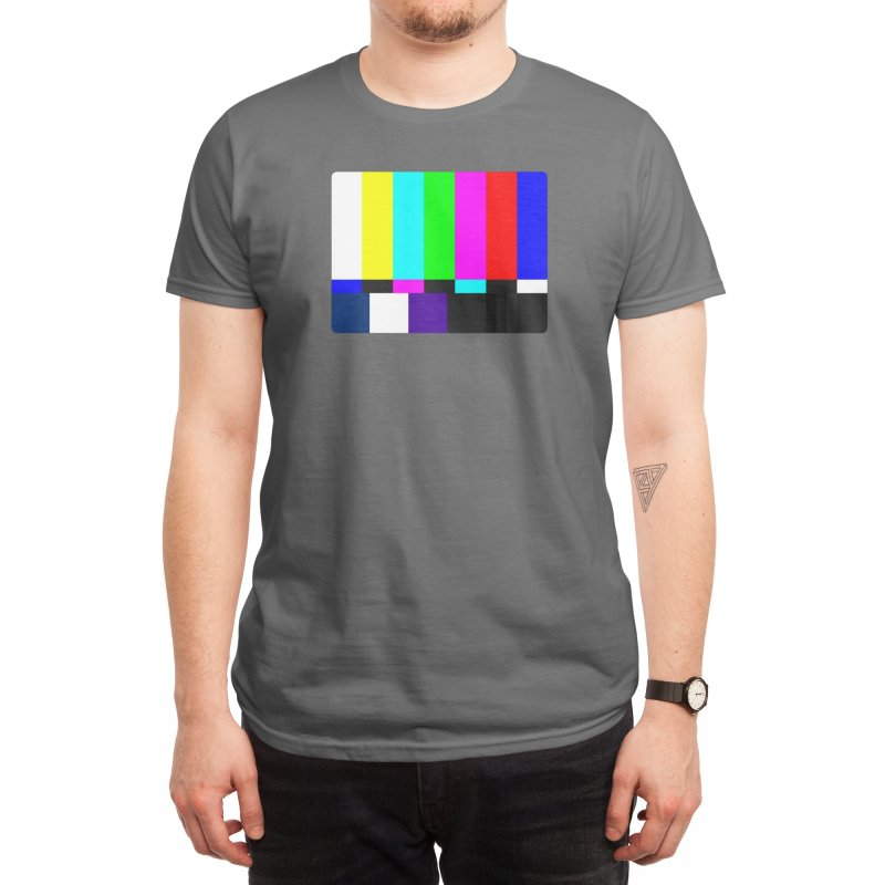 SMPTE TV Color Bars Test Pattern Men's T-Shirt by Glitch Goods by Rob Sheridan