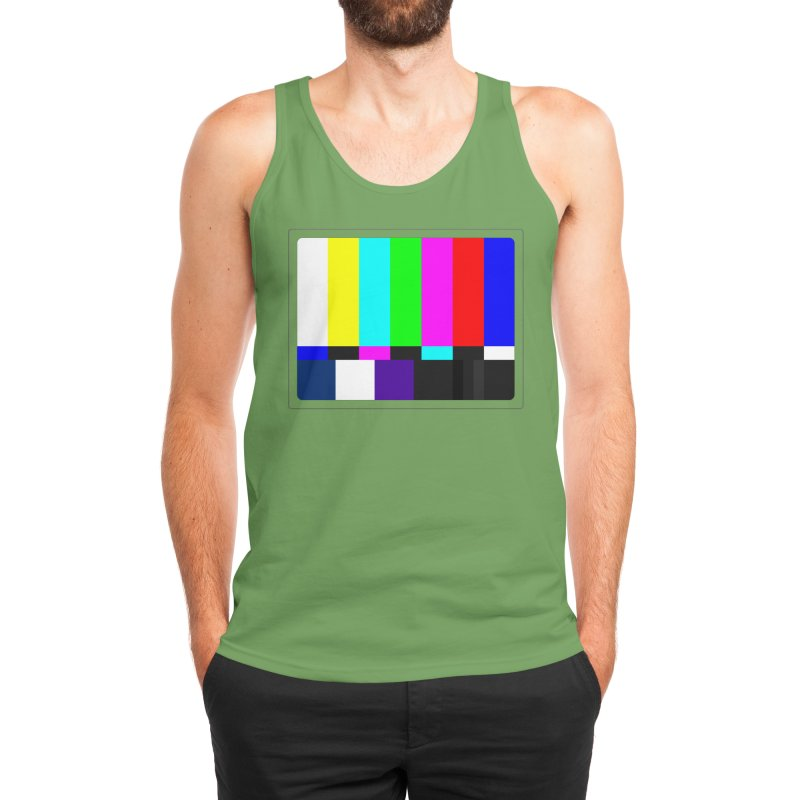 SMPTE TV Color Bars Test Pattern Men's Tank by Glitch Goods by Rob Sheridan