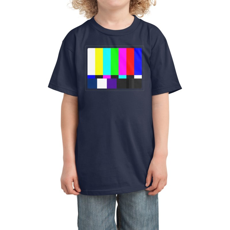 SMPTE TV Color Bars Test Pattern Kids T-Shirt by Glitch Goods by Rob Sheridan