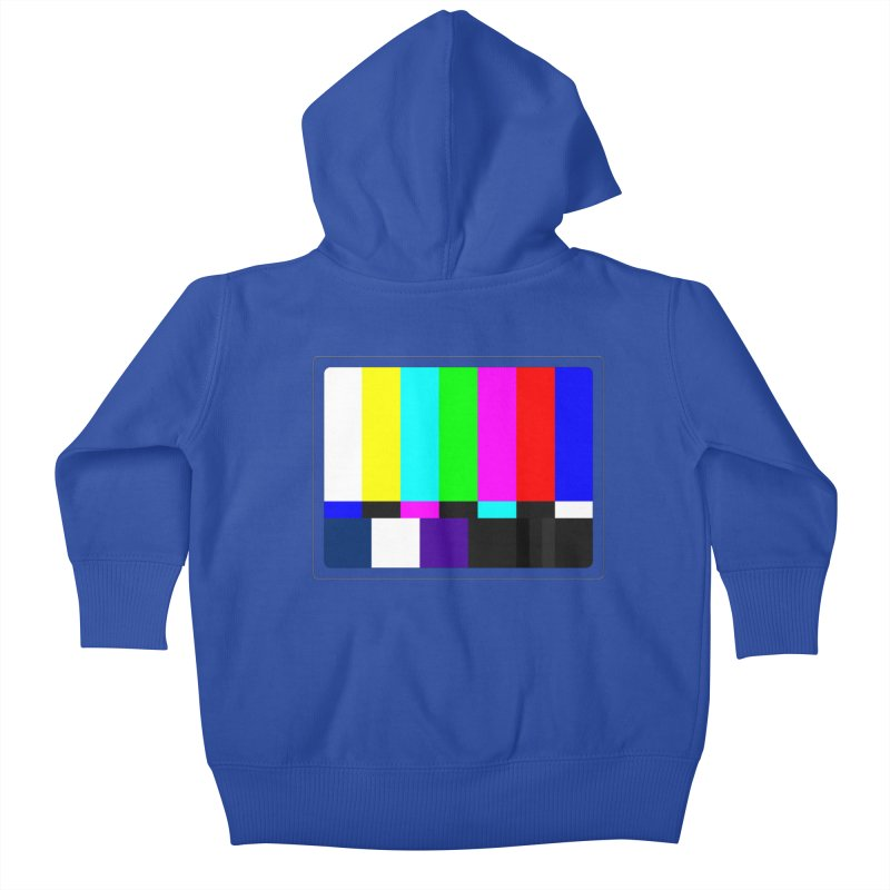 SMPTE TV Color Bars Test Pattern Kids Baby Zip-Up Hoody by Glitch Goods by Rob Sheridan