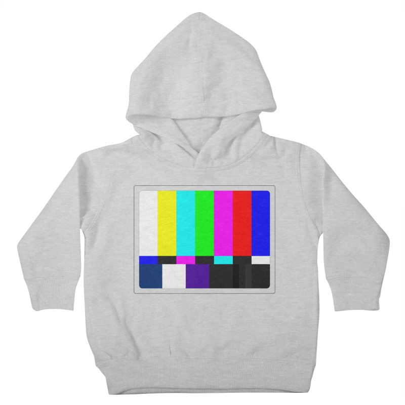 SMPTE TV Color Bars Test Pattern Kids Toddler Pullover Hoody by Glitch Goods by Rob Sheridan