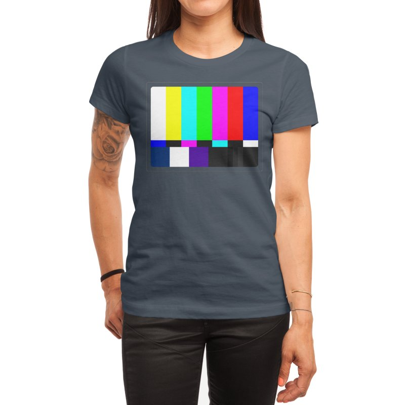 SMPTE TV Color Bars Test Pattern Women's T-Shirt by Glitch Goods by Rob Sheridan