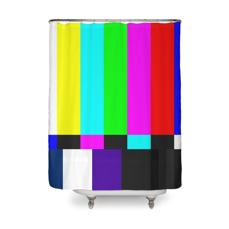 SMPTE TV Color Bars Test Pattern Home Shower Curtain by Glitch Goods by Rob Sheridan