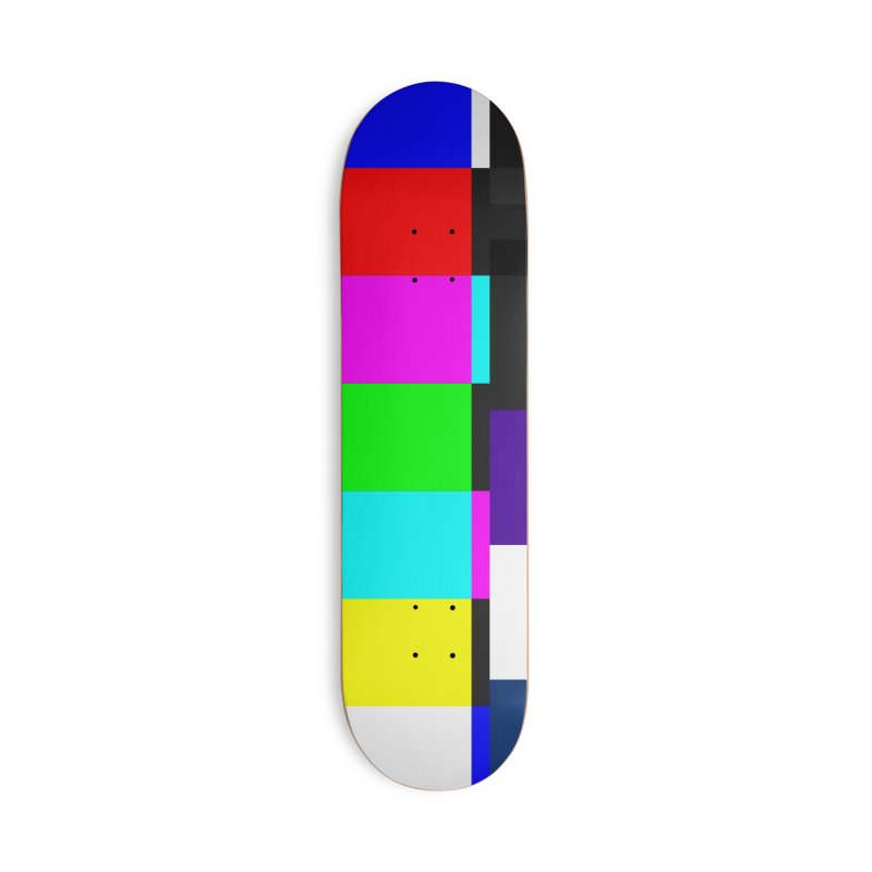 SMPTE TV Color Bars Test Pattern Accessories Skateboard by Glitch Goods by Rob Sheridan