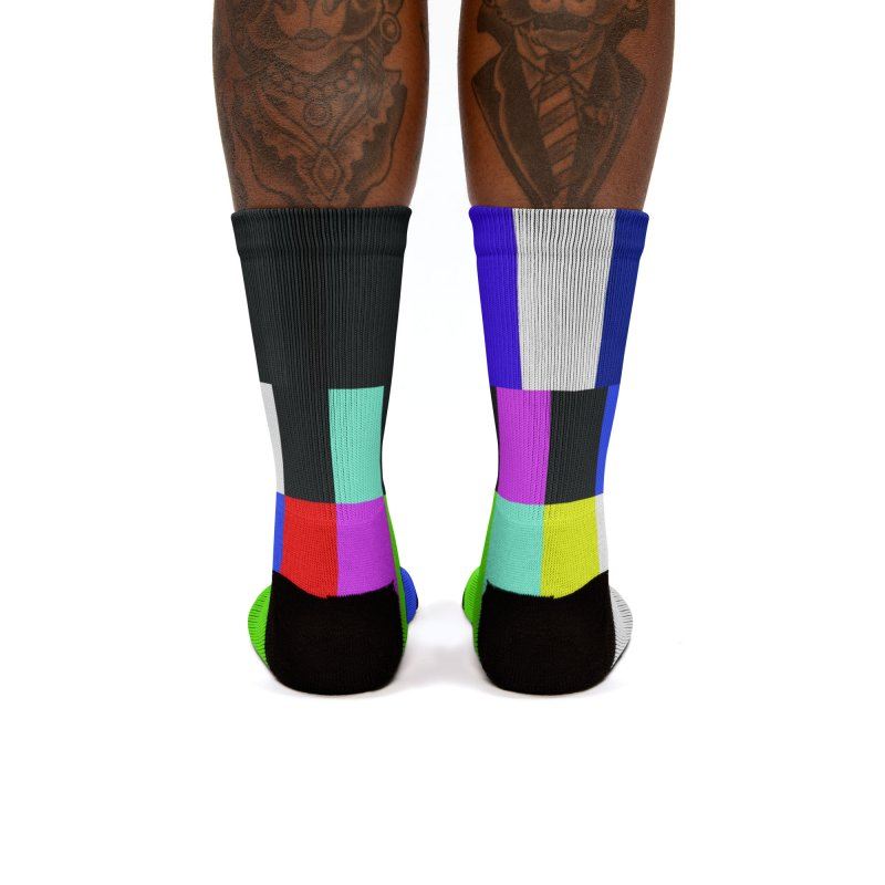 SMPTE TV Color Bars Test Pattern Women's Socks by Glitch Goods by Rob Sheridan