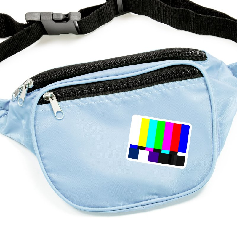 SMPTE TV Color Bars Test Pattern Accessories Sticker by Glitch Goods by Rob Sheridan
