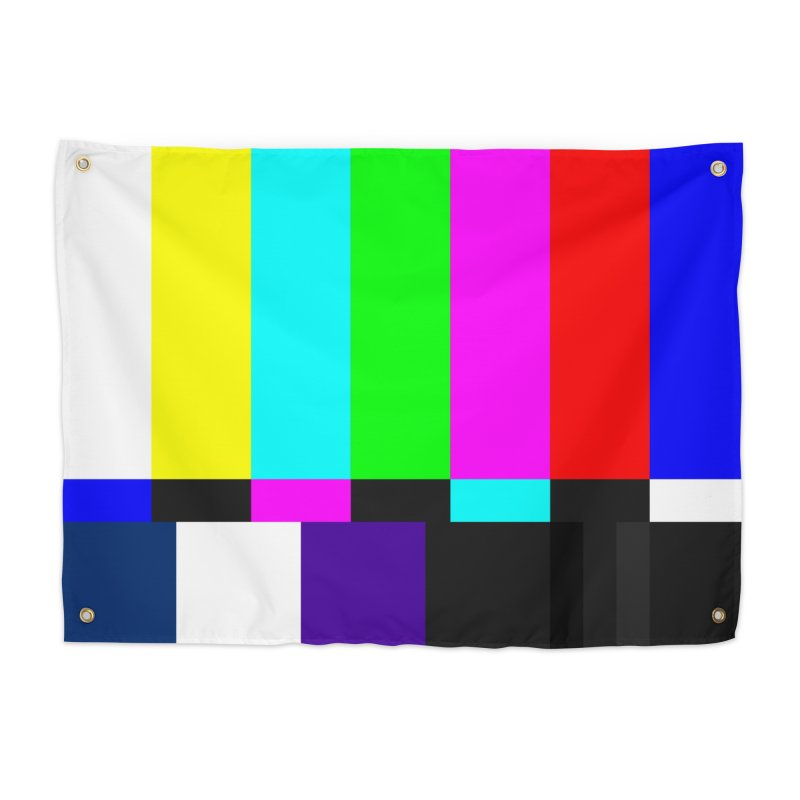 SMPTE TV Color Bars Test Pattern Home Tapestry by Glitch Goods by Rob Sheridan