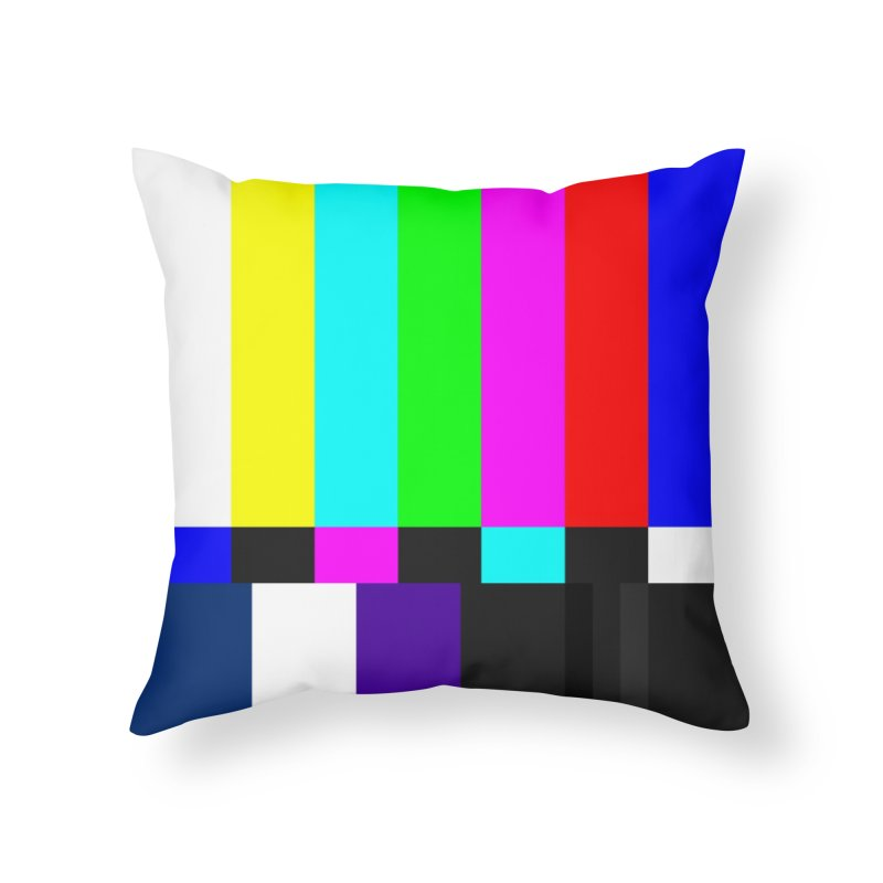SMPTE TV Color Bars Test Pattern Home Throw Pillow by Glitch Goods by Rob Sheridan