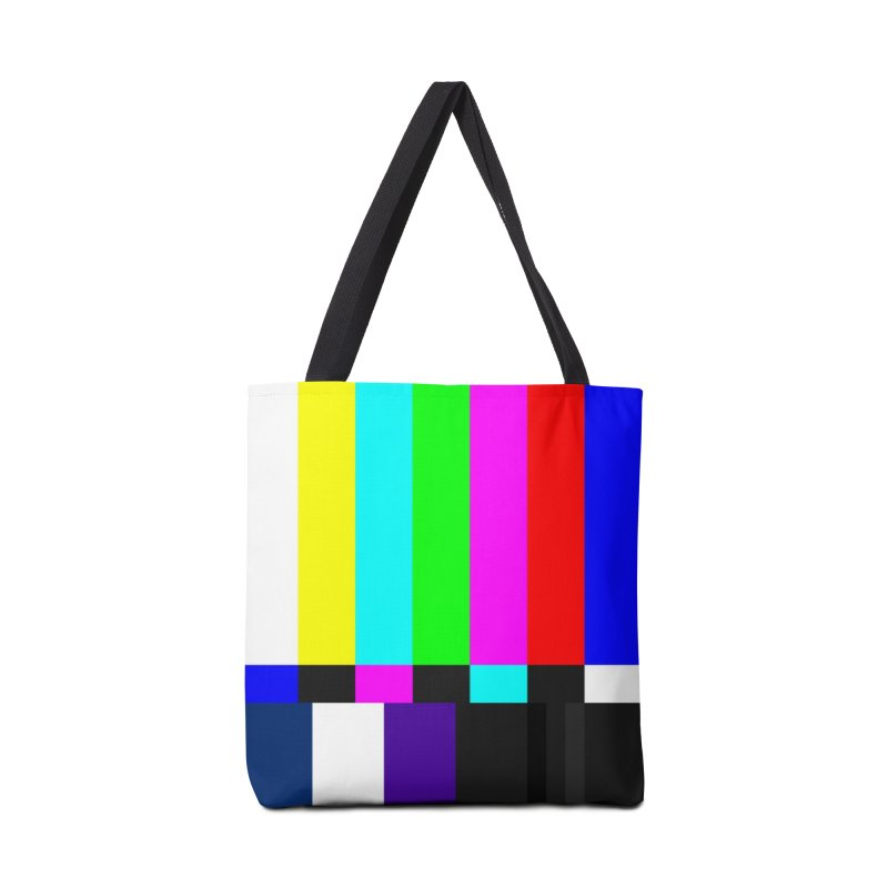 SMPTE TV Color Bars Test Pattern Accessories Bag by Glitch Goods by Rob Sheridan