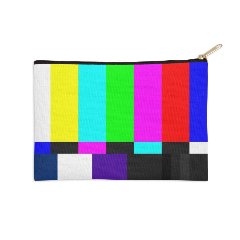 SMPTE TV Color Bars Test Pattern Accessories Zip Pouch by Glitch Goods by Rob Sheridan