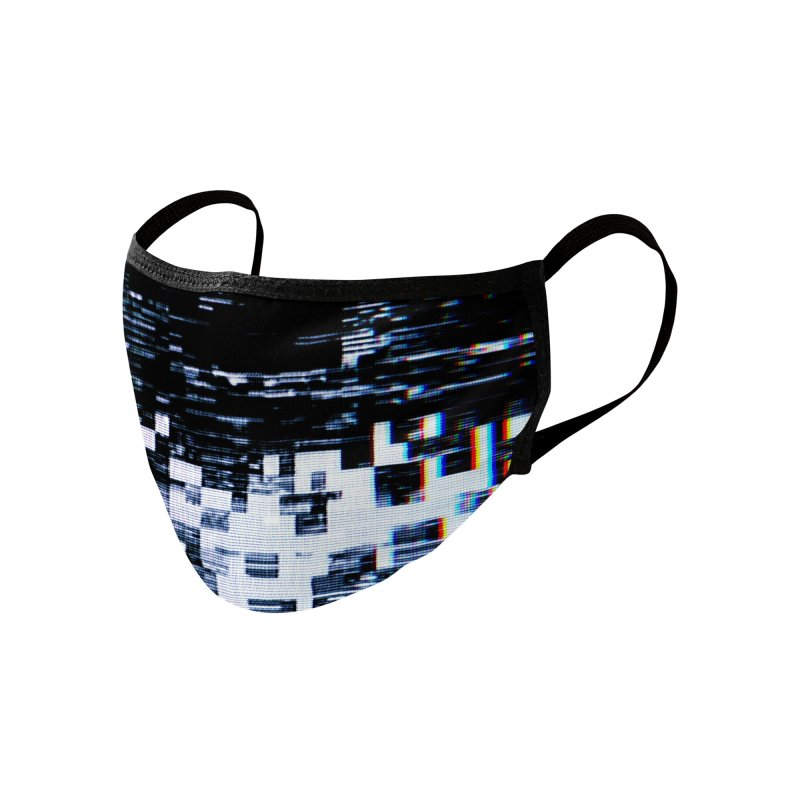 Betamax Glitch 001 Accessories Face Mask by Glitch Goods by Rob Sheridan