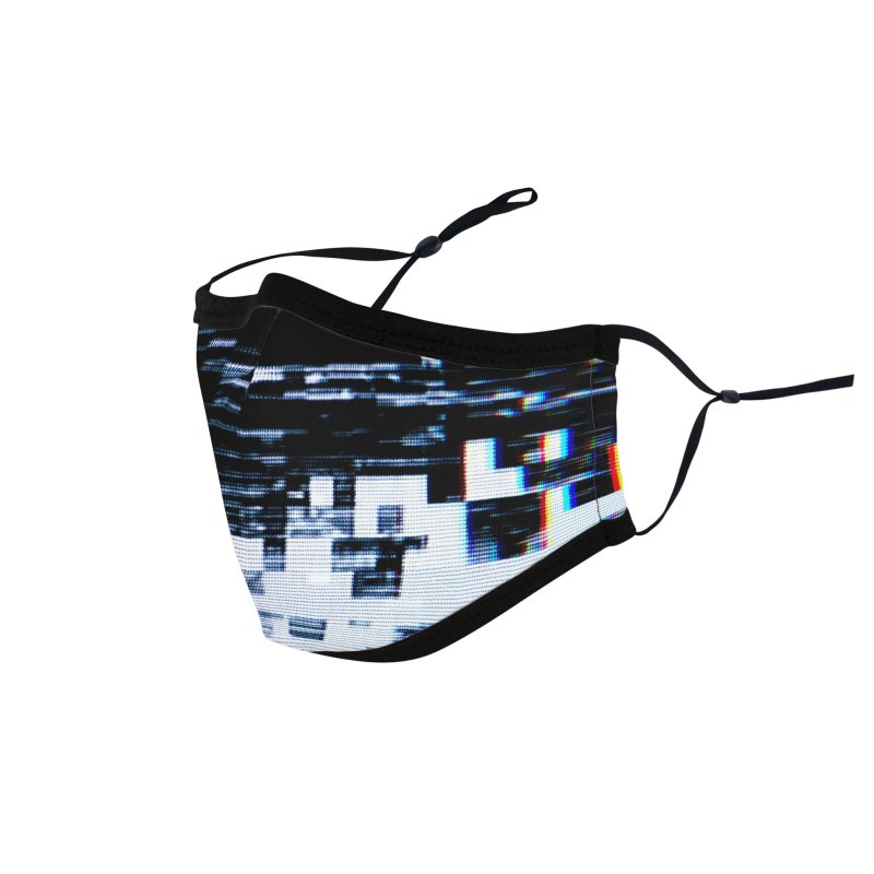 Betamax Glitch 001 Accessories & Masks Face Mask by Glitch Goods by Rob Sheridan