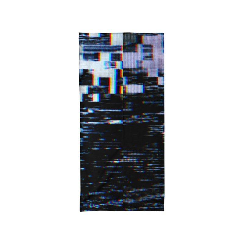Betamax Glitch 001 Accessories Neck Gaiter by Glitch Goods by Rob Sheridan