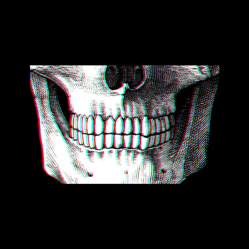 Smiling Skull (RGB Offset) Accessories Face Mask by Glitch Goods by Rob Sheridan