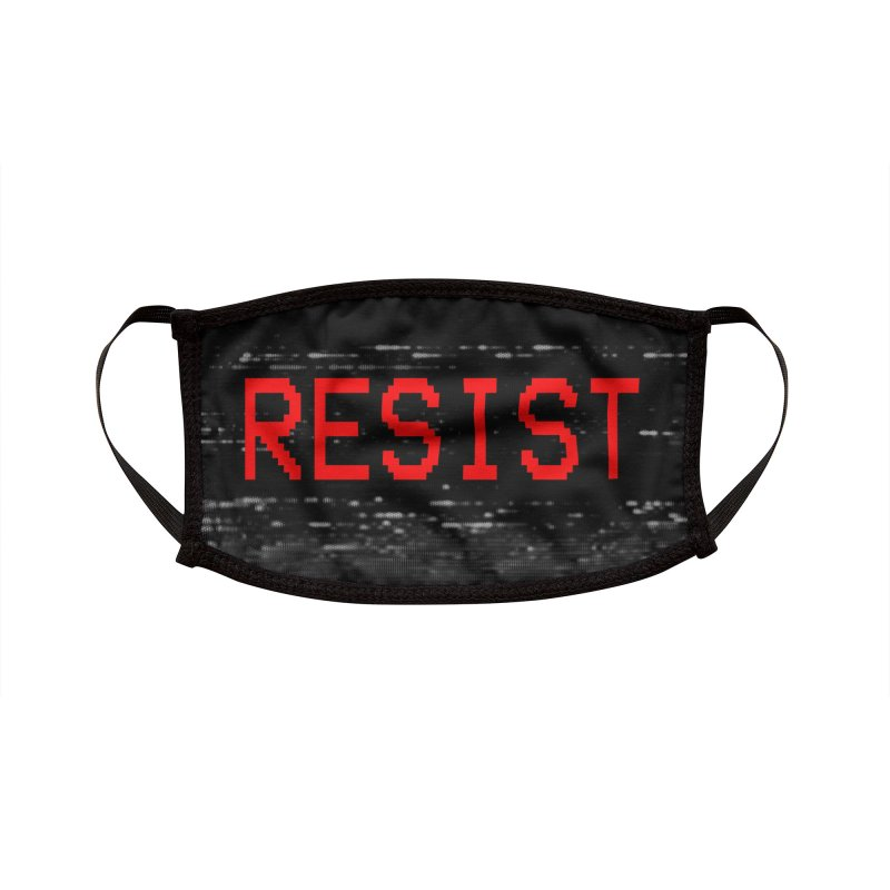 RESIST Accessories Face Mask by Glitch Goods by Rob Sheridan