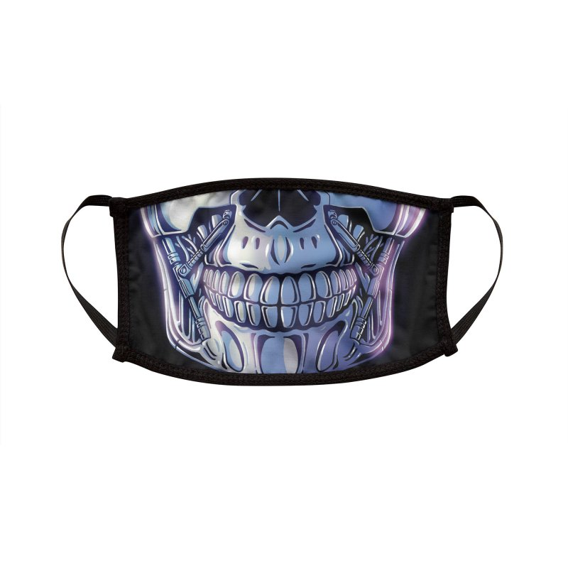Cyber Skull Accessories Face Mask by Glitch Goods by Rob Sheridan
