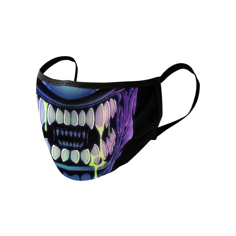 Space Creature (adult sizes) Accessories Face Mask by Glitch Goods by Rob Sheridan