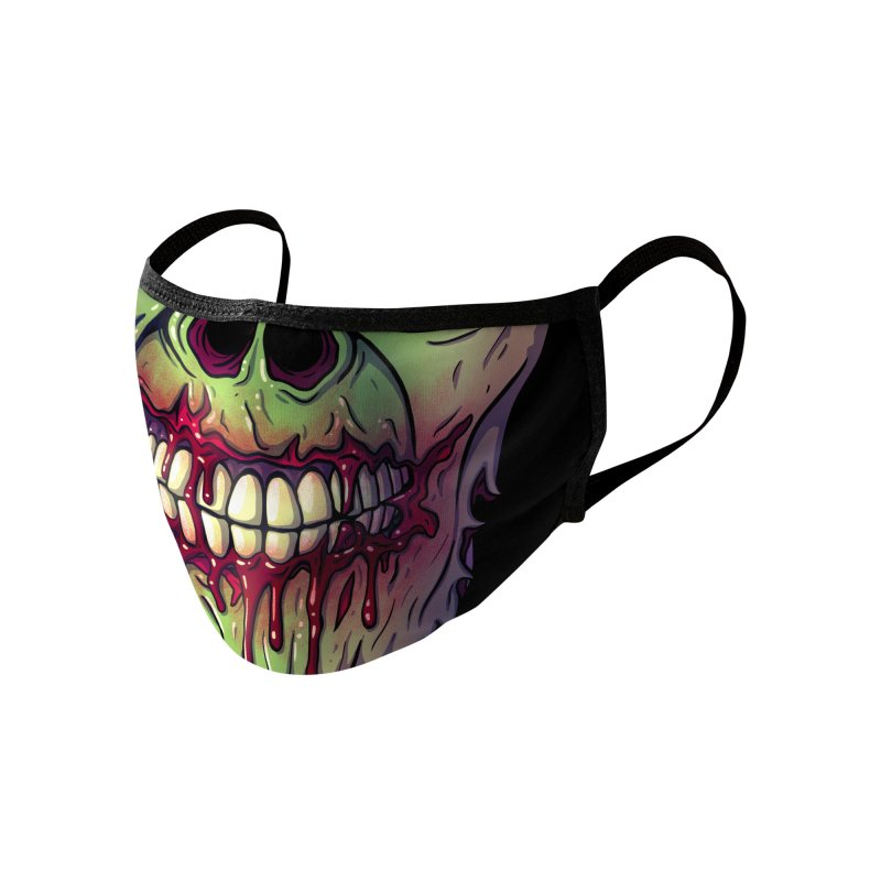 Zombie Face Accessories Face Mask by Glitch Goods by Rob Sheridan