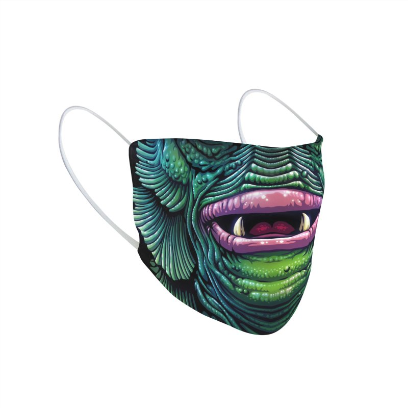 Swamp Monster (adult sizes) Accessories Face Mask by Glitch Goods by Rob Sheridan