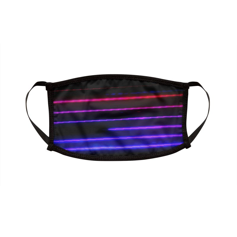 CRT Punk 001 Accessories Face Mask by Glitch Goods by Rob Sheridan