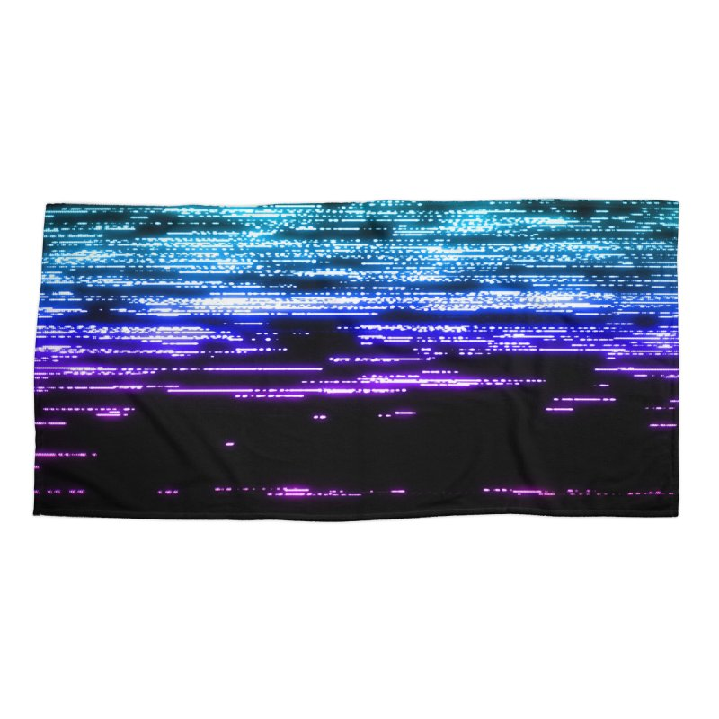 CRT Punk 003 Accessories Beach Towel by Glitch Goods by Rob Sheridan