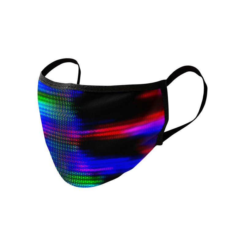 CRT Punk 005 Accessories Face Mask by Glitch Goods by Rob Sheridan