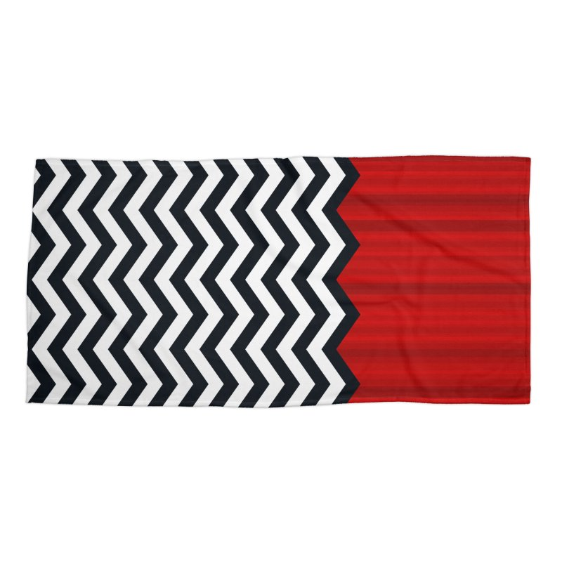 The Lodge Accessories & Masks Beach Towel by Glitch Goods by Rob Sheridan
