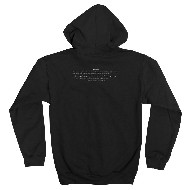 The BSOD Men's Zip-Up Hoody by Glitch Goods by Rob Sheridan