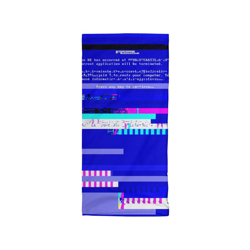 The BSOD (Glitched) Accessories & Masks Neck Gaiter by Glitch Goods by Rob Sheridan