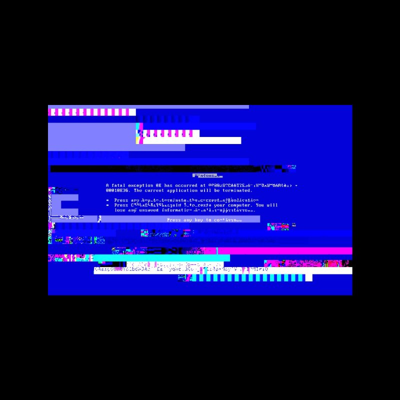 The BSOD (Glitched) Accessories & Masks Beach Towel by Glitch Goods by Rob Sheridan