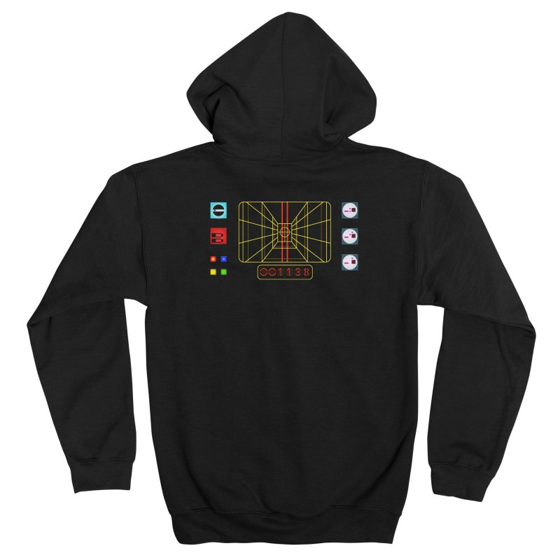 STAY ON TARGET Men's Zip-Up Hoody by Glitch Goods by Rob Sheridan