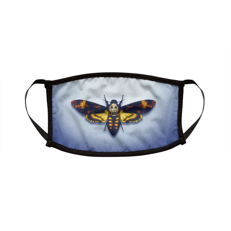 The Death's-head Moth (adult sizes) Accessories Face Mask by Glitch Goods by Rob Sheridan